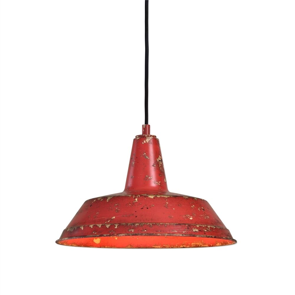 Farmhouse Pendant Tuscan Red Kitchen Island Light