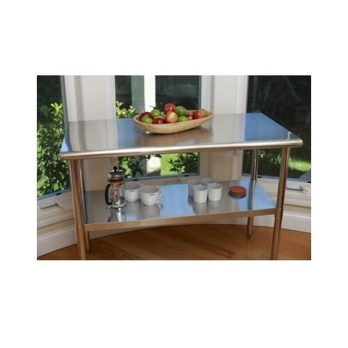 Stainless Steel Top Kitchen Island Counter Height Utility: Stainless Steel Table Kitchen Island Counter Top Prep