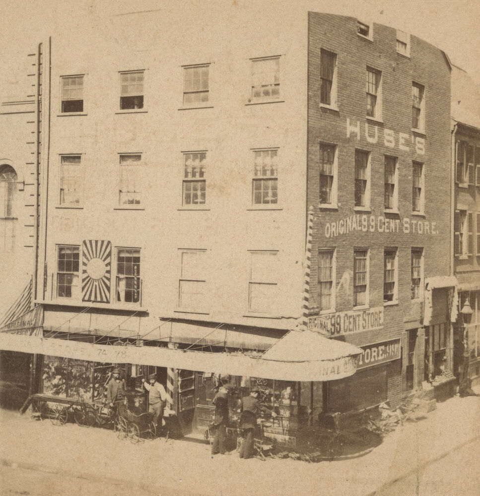 Antique Boston Hanover St North End 1872 Iwakura Meiji Japan Stereoview Photo Ebay