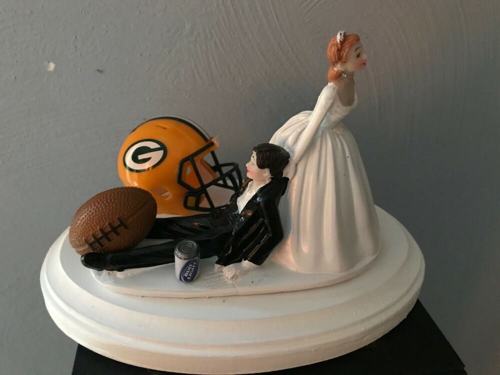 Green Bay Wedding Cake Topper