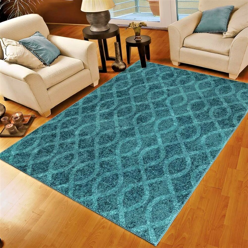Rugs area rugs 8x10 area rug carpet modern rugs large rugs blue rugs striped rug ebay for Large living room rugs for sale