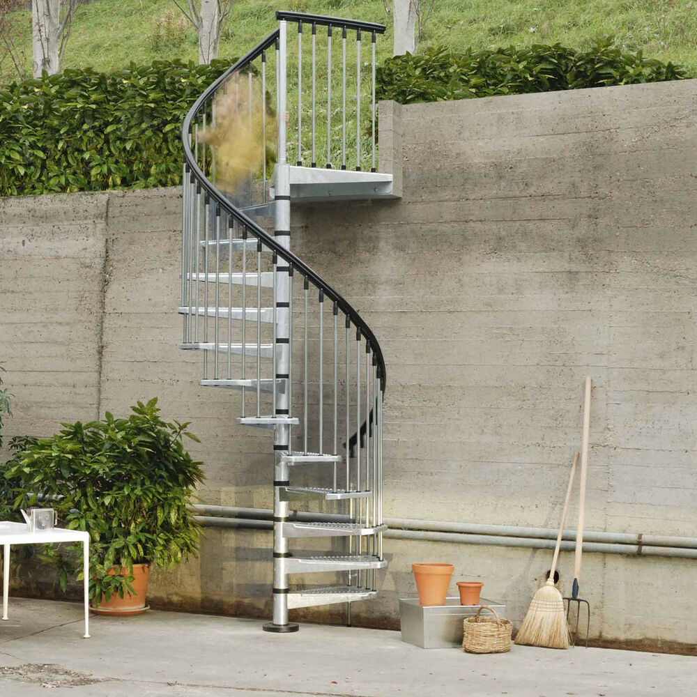 Arke fontanot civik zink spiral staircase kit galvanised for Aluminum spiral staircase prices