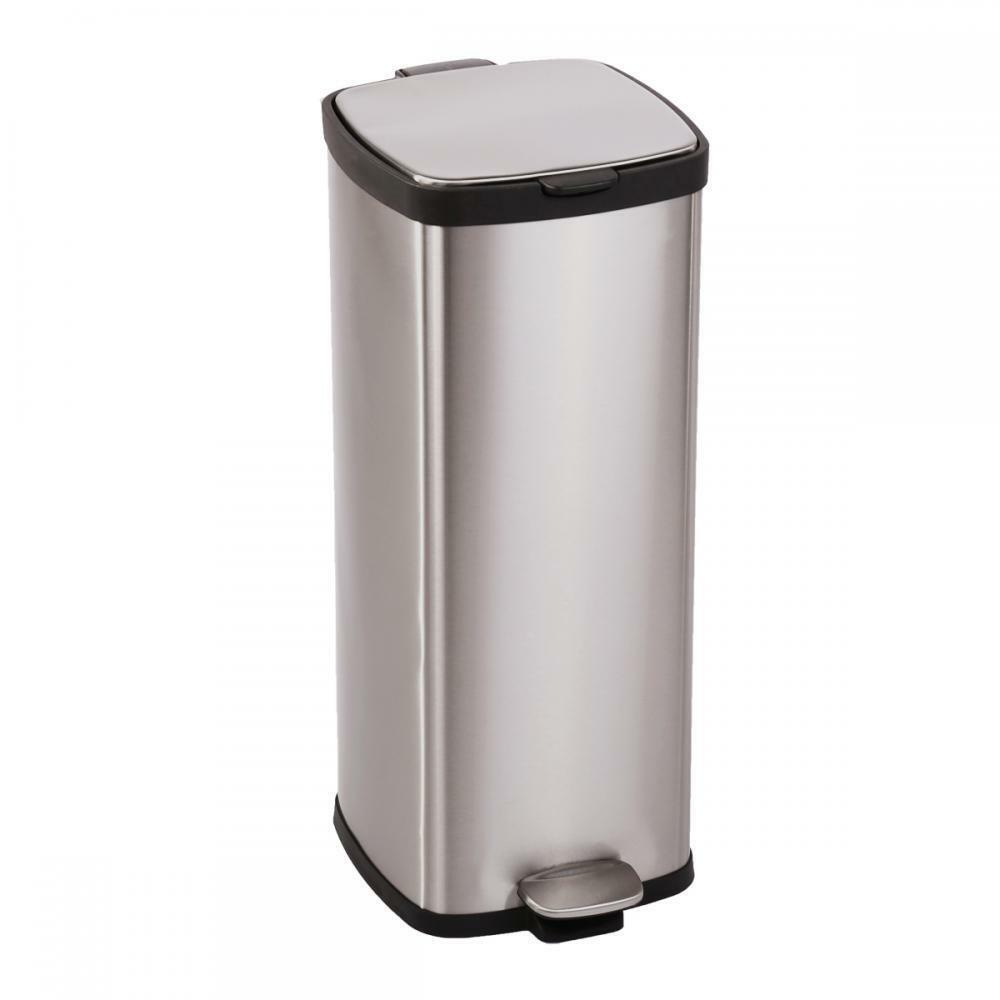 30 Gallon Kitchen Trash Can: BestOffice 8 Gallon/ 30L Step Stainless-Steel Trash Can