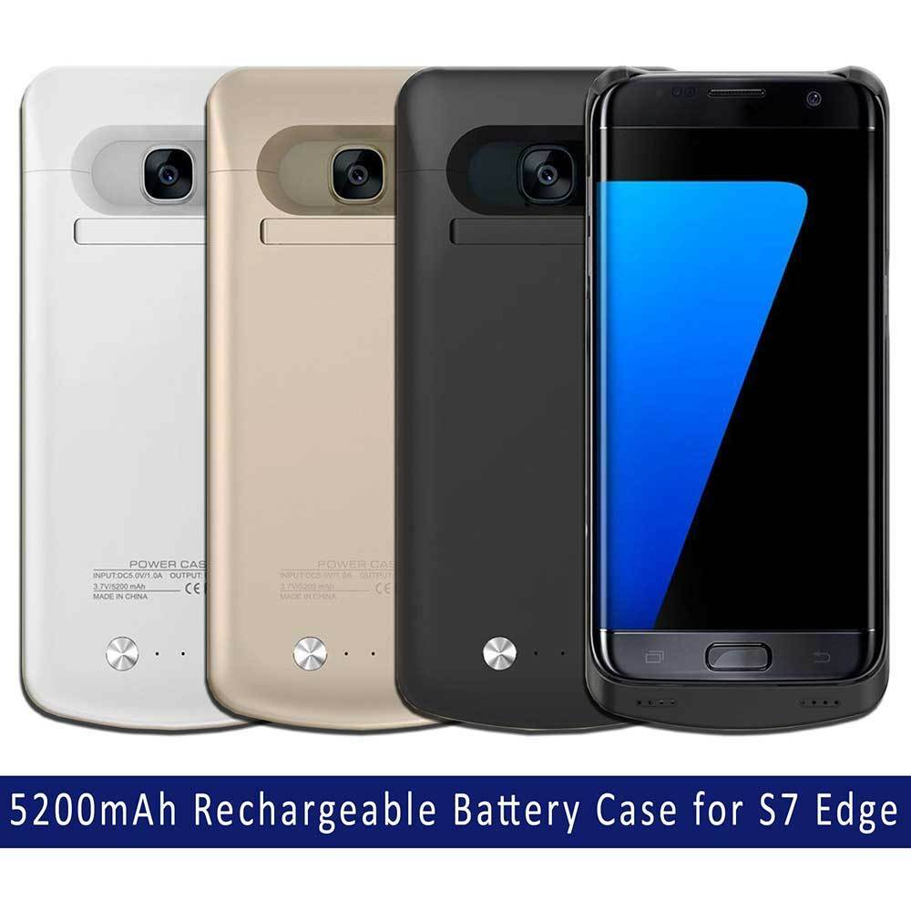 samsung galaxy s7 edge portable external battery charger pack case 5200 mah ebay. Black Bedroom Furniture Sets. Home Design Ideas