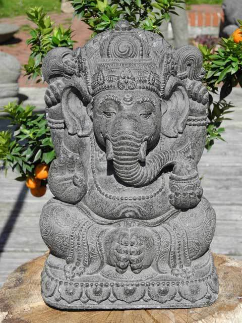 ganesha gl cksgott gl cksbringer statue asia figur steinguss asien bali deko ebay. Black Bedroom Furniture Sets. Home Design Ideas