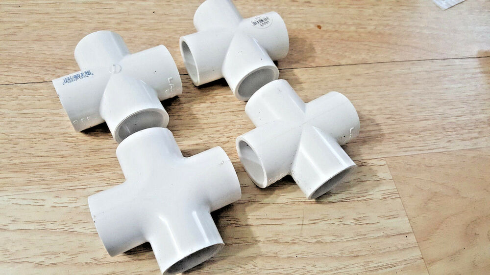 Quot inch way tee pvc fitting connector elbow pack sch