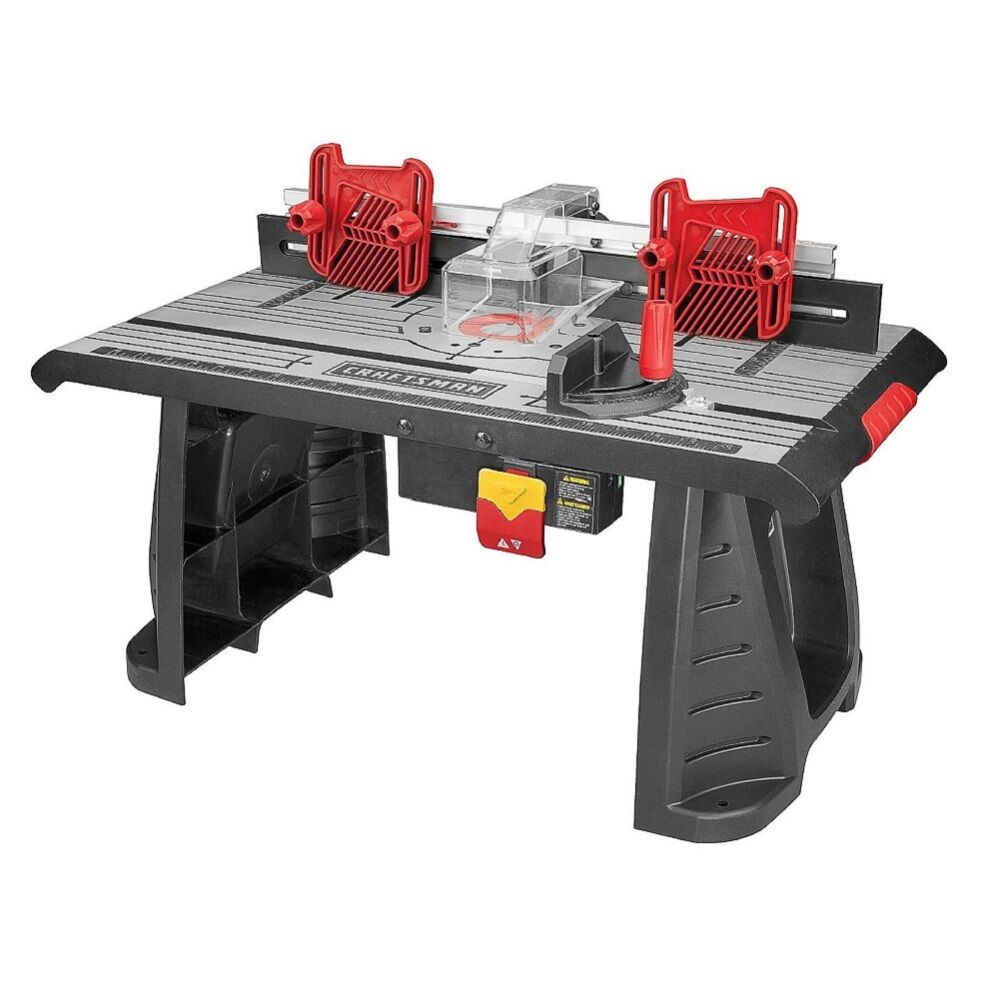 Router Table Die Cast Aluminum Craftsman Working Cutting Bench Garage Power Tool Ebay