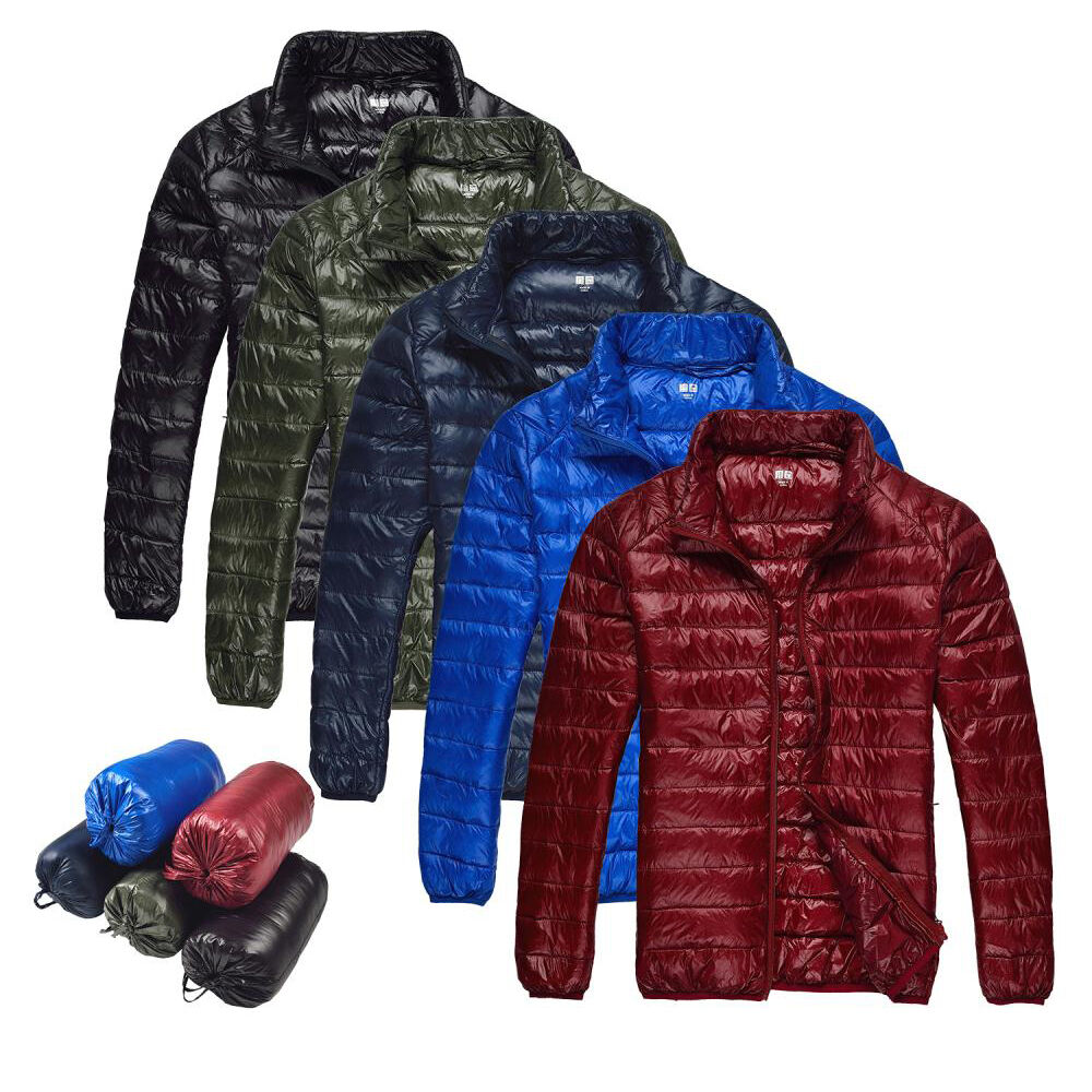 New Men S Duck Down Jacket Ultra Light Travel Portable