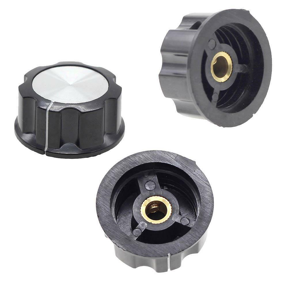 Tractor Control Knobs : Pcs adjustable mm knurled shaft potentiometer volume