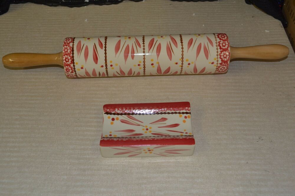 Temp Tations Rolling Pin With Stand K39454 Ebay