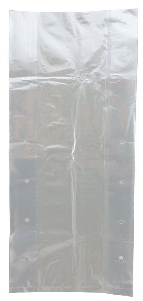"""Plastic Bag-Clear LDPE Poly Vented Produce Bags 8""""x4""""x14 ..."""