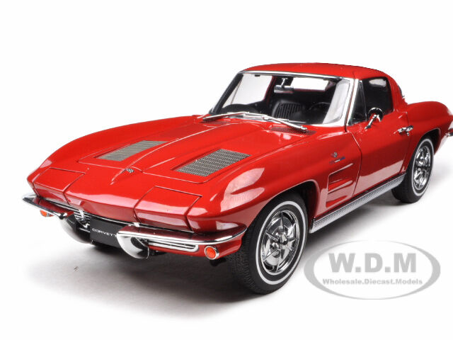 1963 corvette sting ray split window red 1 18 diecast