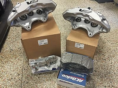 2009-12 Cadillac CTS-V Brembo Silver 6 Piston Front Calipers + GM pads + pin kit