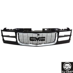 Kyпить Black Grille w/Chrome Surround Trim For 94-98 GMC C/K Pickup Suburban 1500 2500 на еВаy.соm