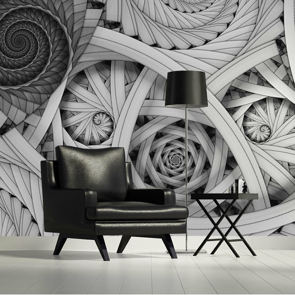 Wallpaper mural photo swirls abstract giant wall decor for Cheap wall mural posters