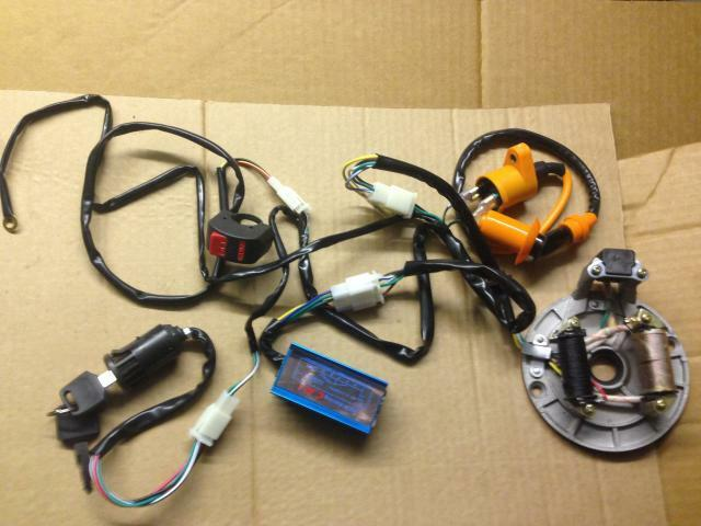 New wiring loom harness race cdi ht lead coil