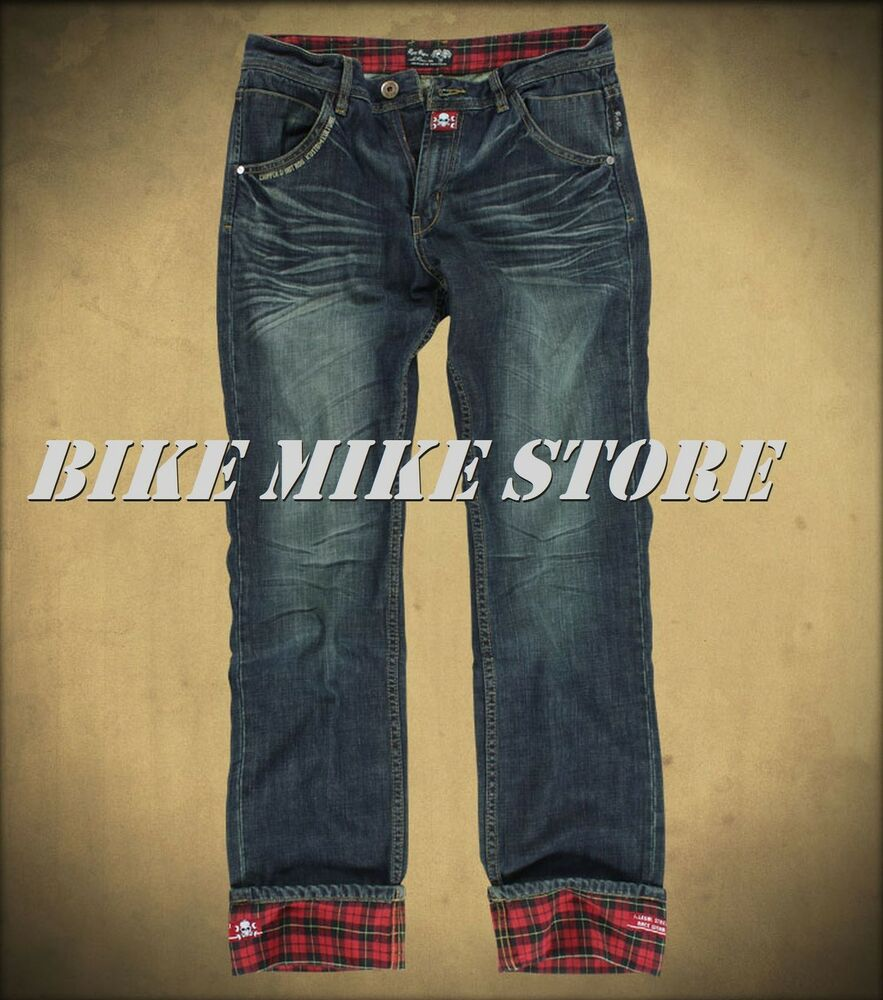 rusty pistons herren jeans hose winslow red rockabilly ebay. Black Bedroom Furniture Sets. Home Design Ideas