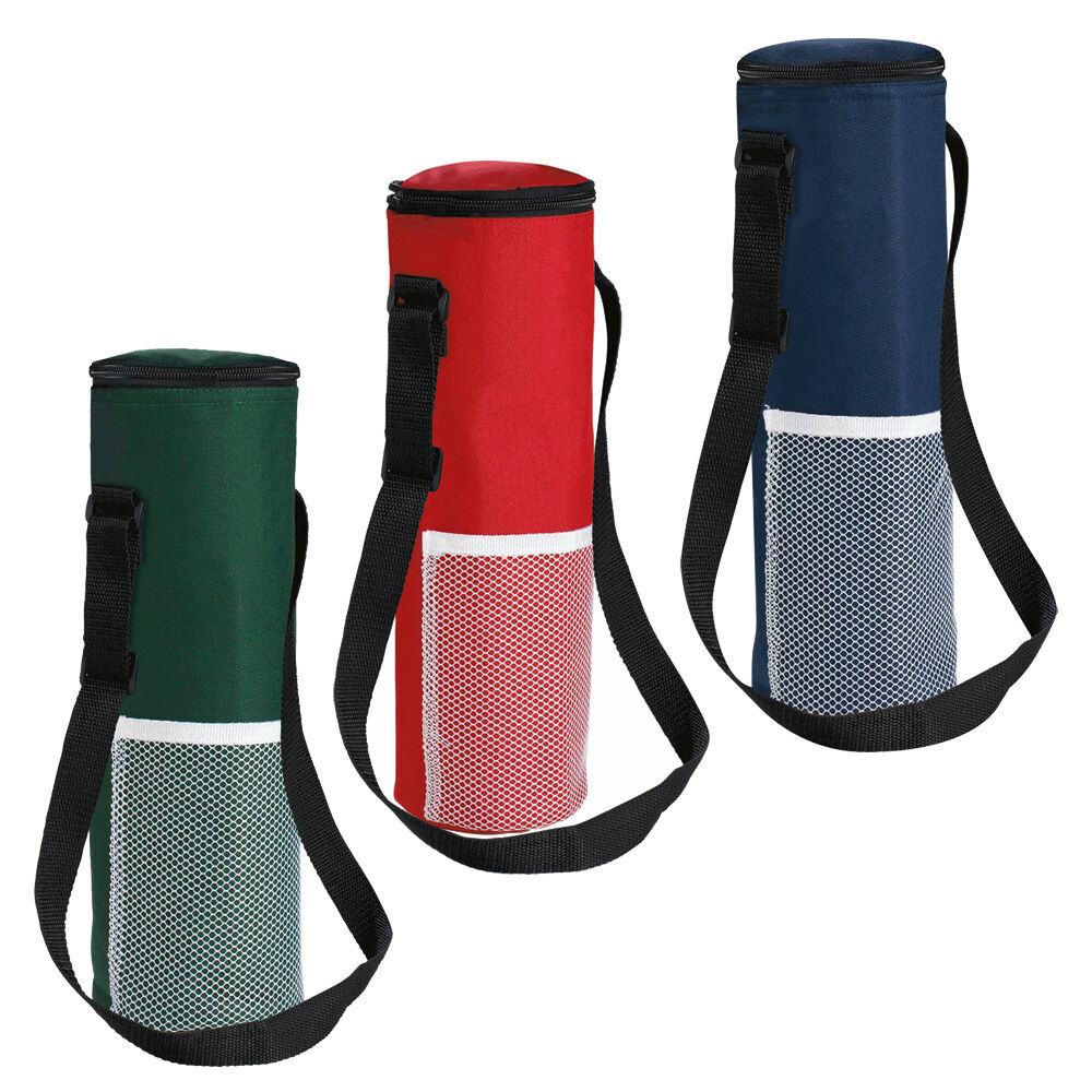 Insulated Bottle Cool Bag With Strap Picnic Drinks