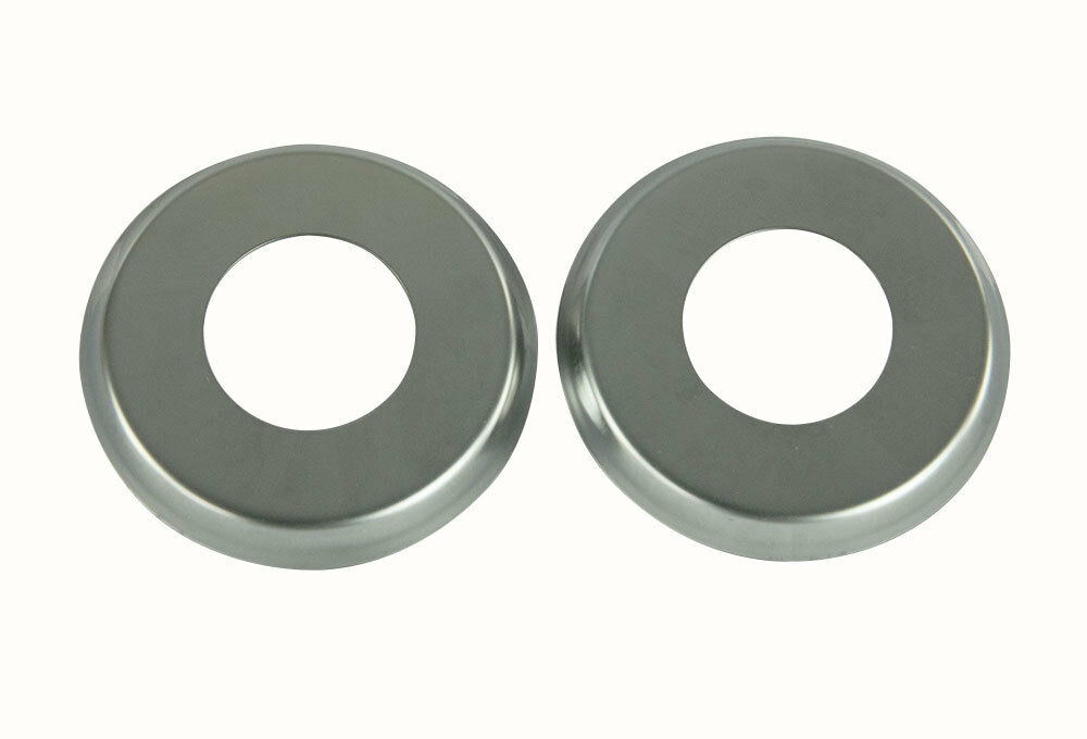 Set of 2 stainless steel escutcheon plates for in ground pool ladder stair rail ebay - Rubber swimming pool ladder bumper ...