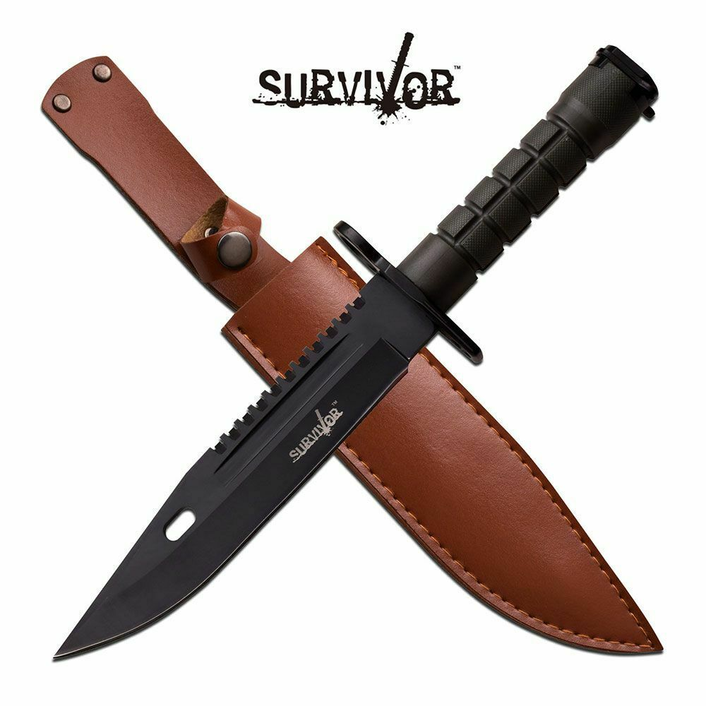 FIXED-BLADE TACTICAL KNIFE | Black Army Green Military ...