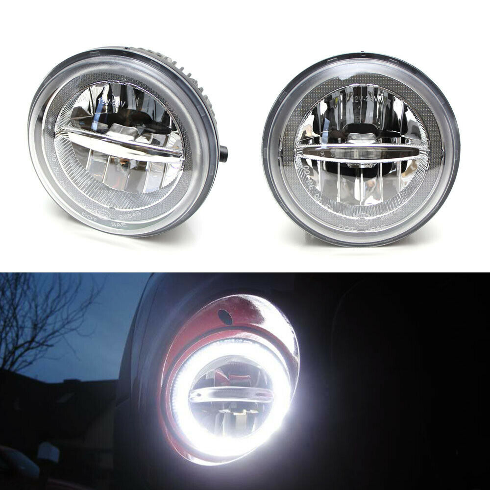 30w cree led halo ring drl fog lights w wiring for tundra. Black Bedroom Furniture Sets. Home Design Ideas