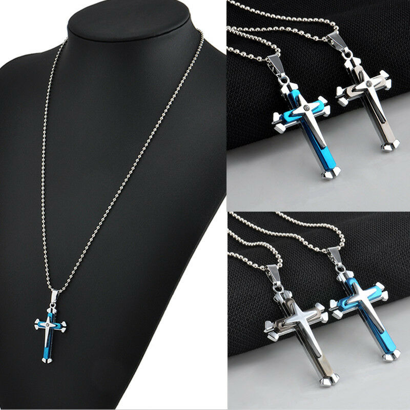 New gift unisex 39 s men stainless steel cross pendant for Stainless steel jewelry necklace
