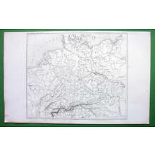 1859 ORIGINAL MAP - Germany & Central Europe