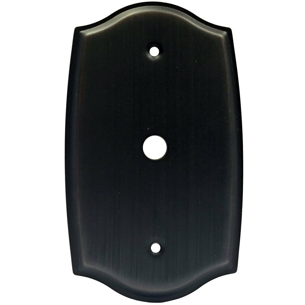 oil rubbed bronze cable tv wall plate ebay. Black Bedroom Furniture Sets. Home Design Ideas