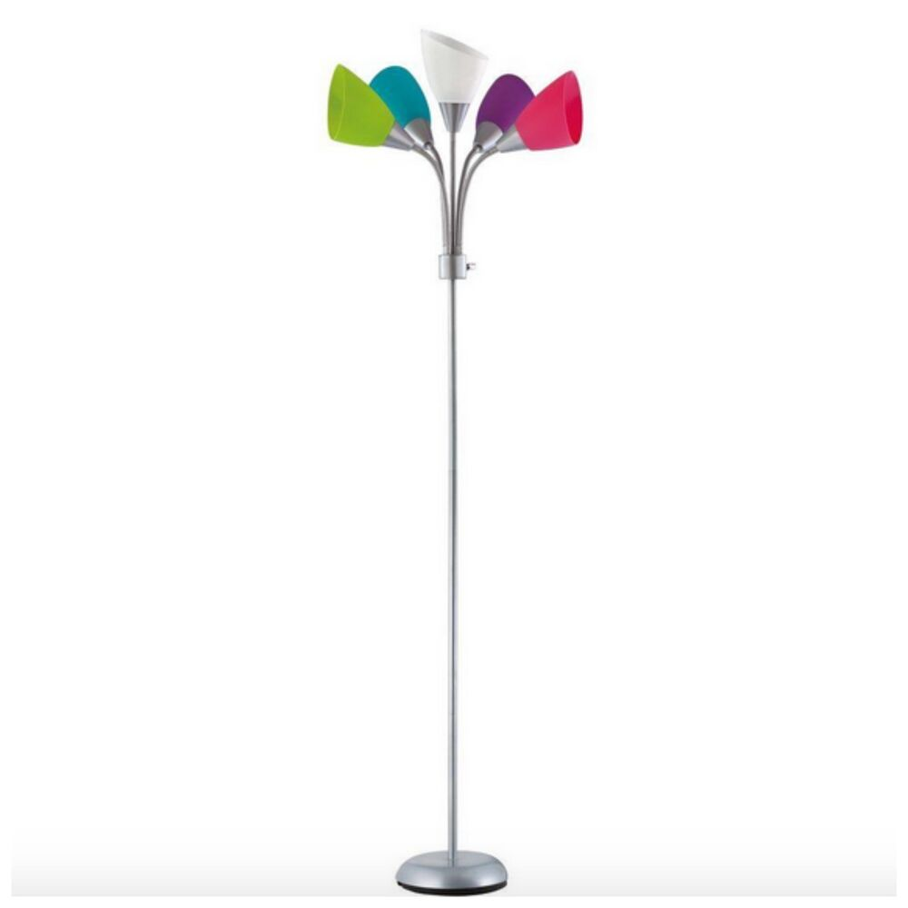 Modern contemporary floor lamp stand 5 arc bulb shade for Arc floor lamp stand