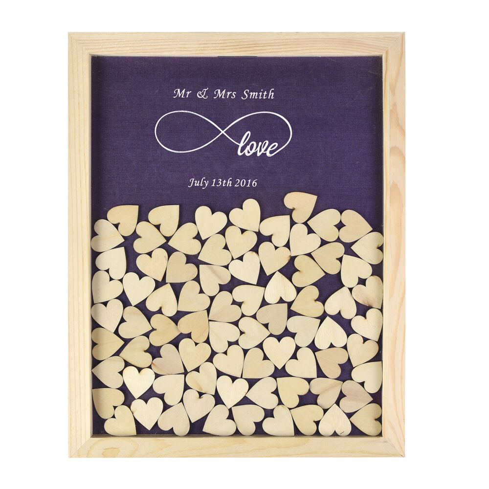Personalized Engraved Love Rustic Drop Top Wooden Wedding