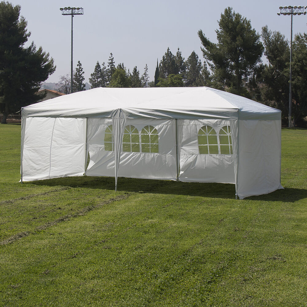 Heavy Duty Silver White 10 X20 Canopy Pop Up Outdoor