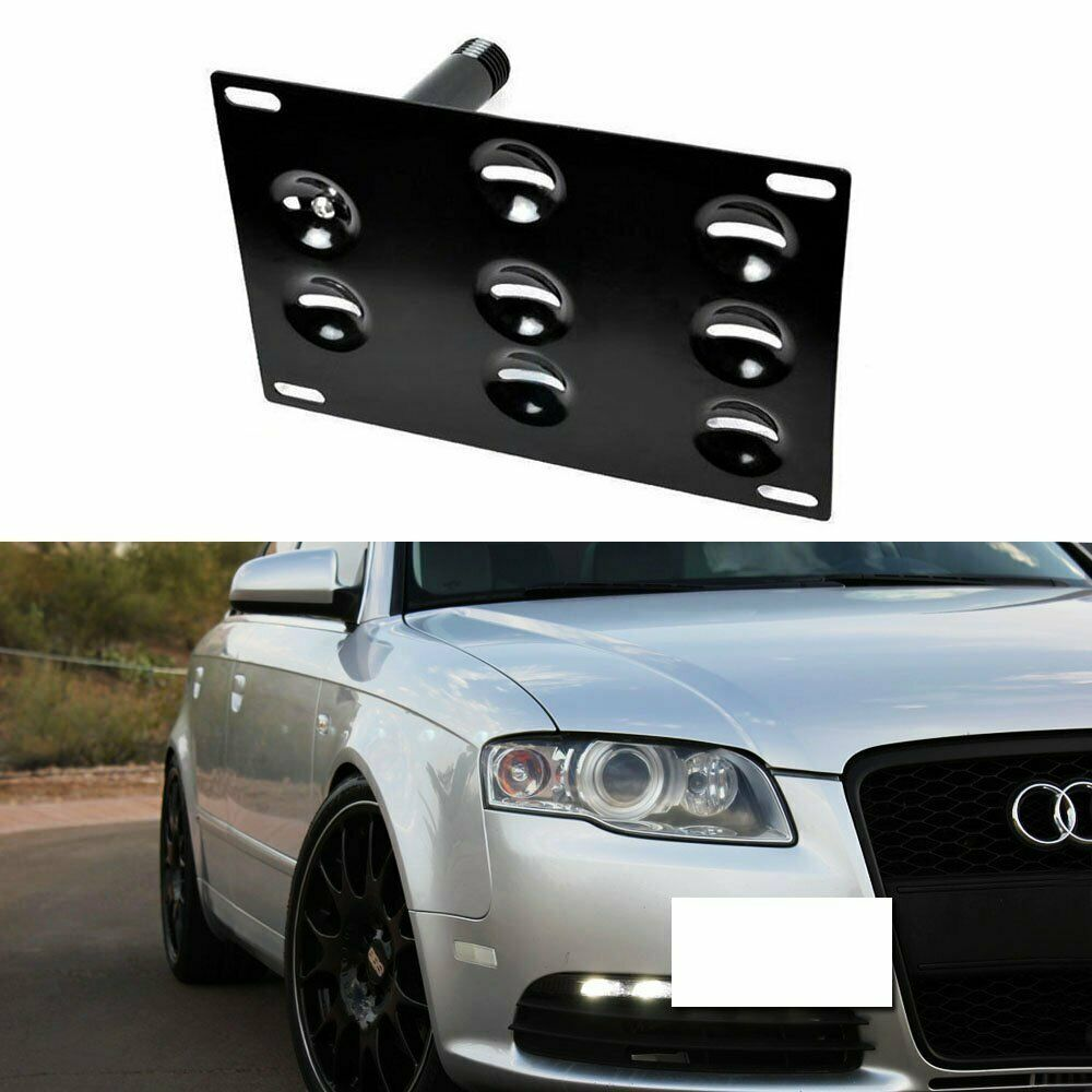 Audi A4 License Plate Frame: Bumper Tow Hook License Plate Mounting Bracket For 01-08