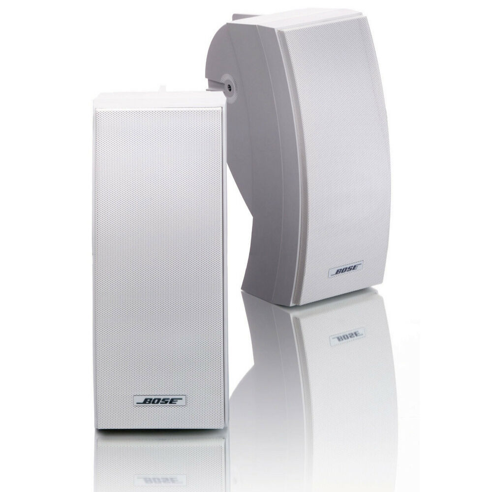 bose 251 outdoor weatherproof speakers pair white. Black Bedroom Furniture Sets. Home Design Ideas