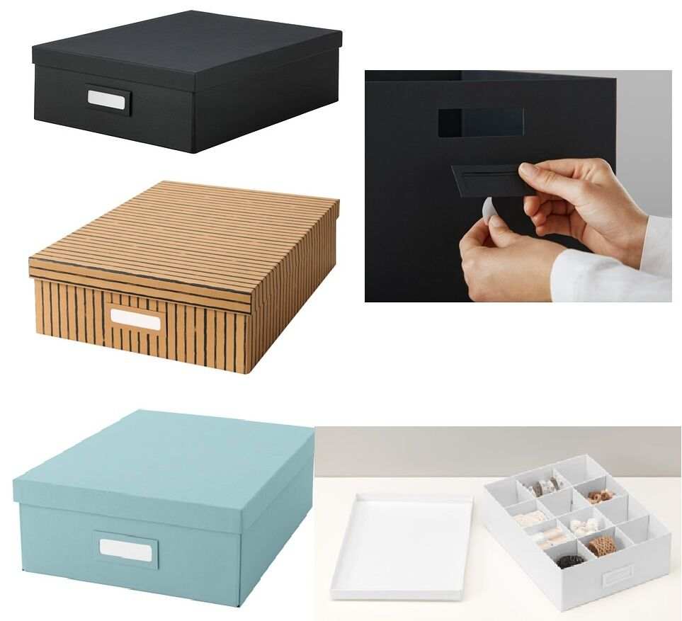 Cardboard storage box with lid compartments craft for Small cardboard jewelry boxes with lids