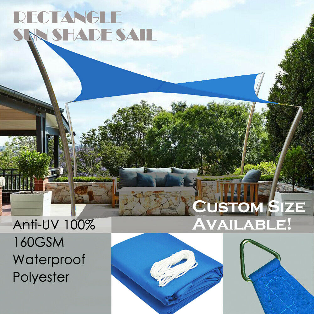 Alion Home 169 Terylene Waterproof Sun Shade Sail Royal