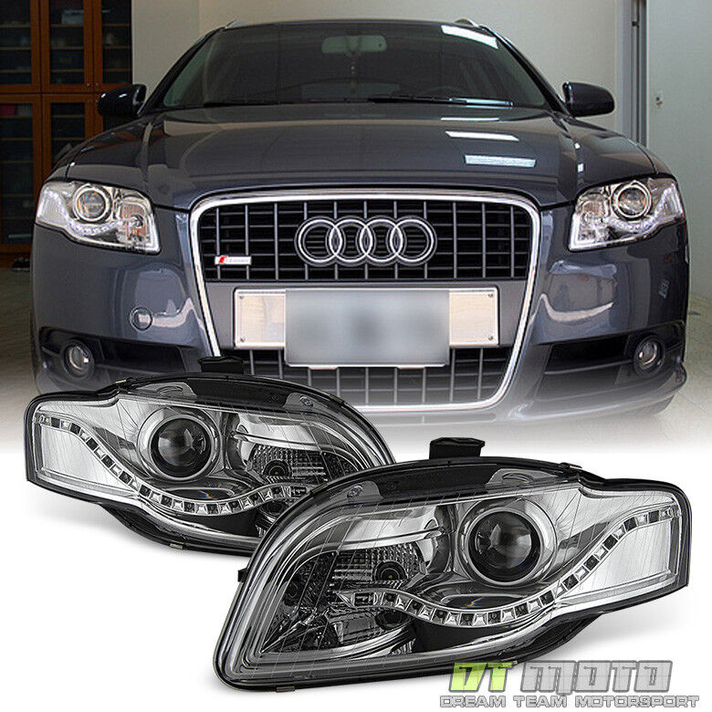 2006 2008 Audi A4 S4 B7 Smd Led Drl Halogen Type Projector