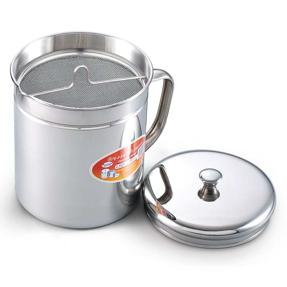 Stainless reuse oil storage container filter deep fryer