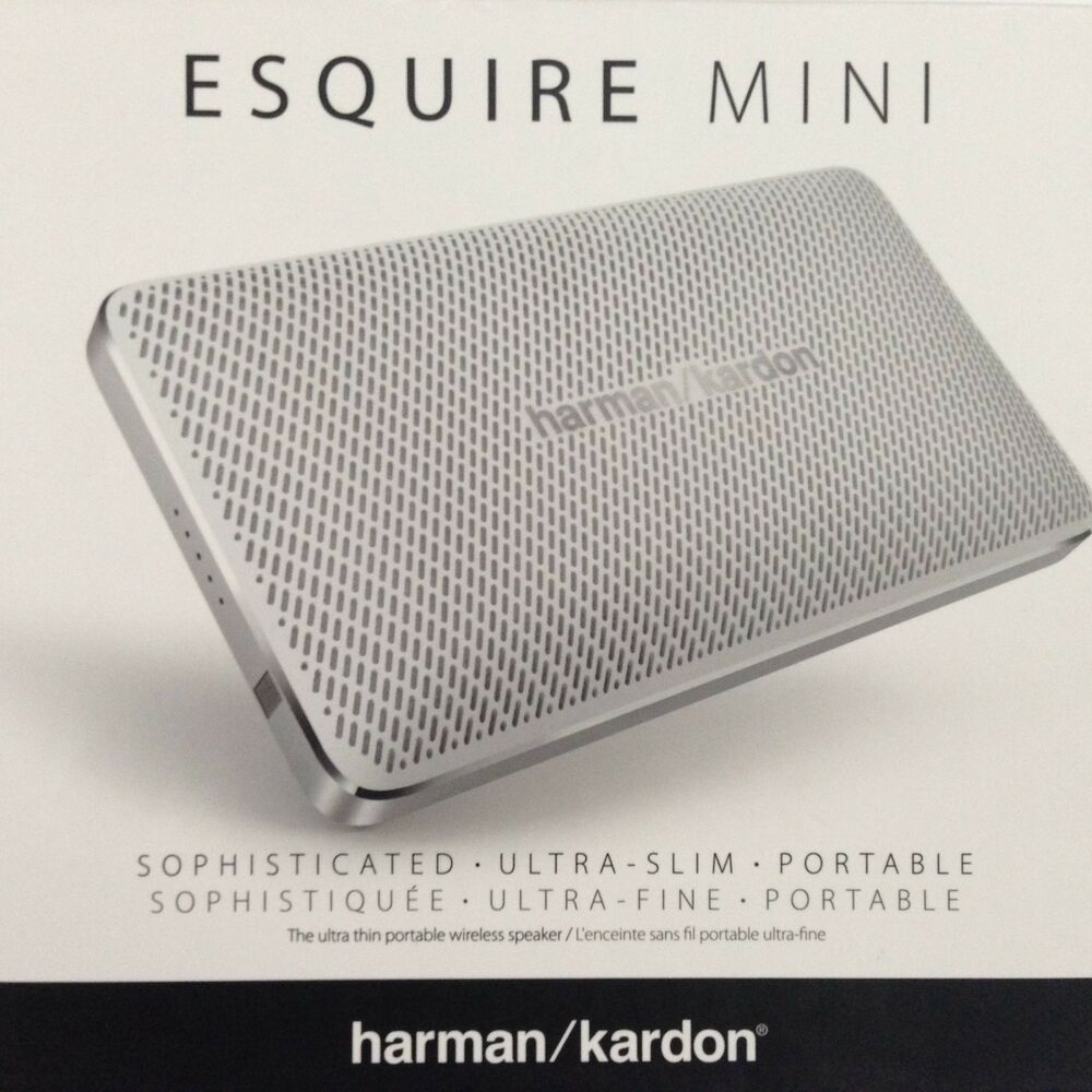 brand new harman kardon esquire mini wireless portable bluetooth speaker white ebay. Black Bedroom Furniture Sets. Home Design Ideas