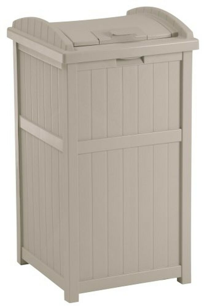 Waste Trash Recycling Can Box Storage 33 Gallon Garbage