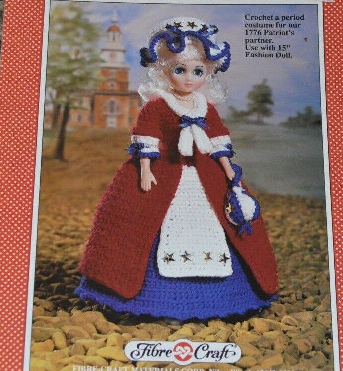 Betsy ross fibre craft fcm202 crochet pattern 15 fashion for Fibre craft 18 inch doll