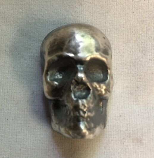 1oz Skull Antique Finish 999 Fine Silver Bar Quot Yeager S
