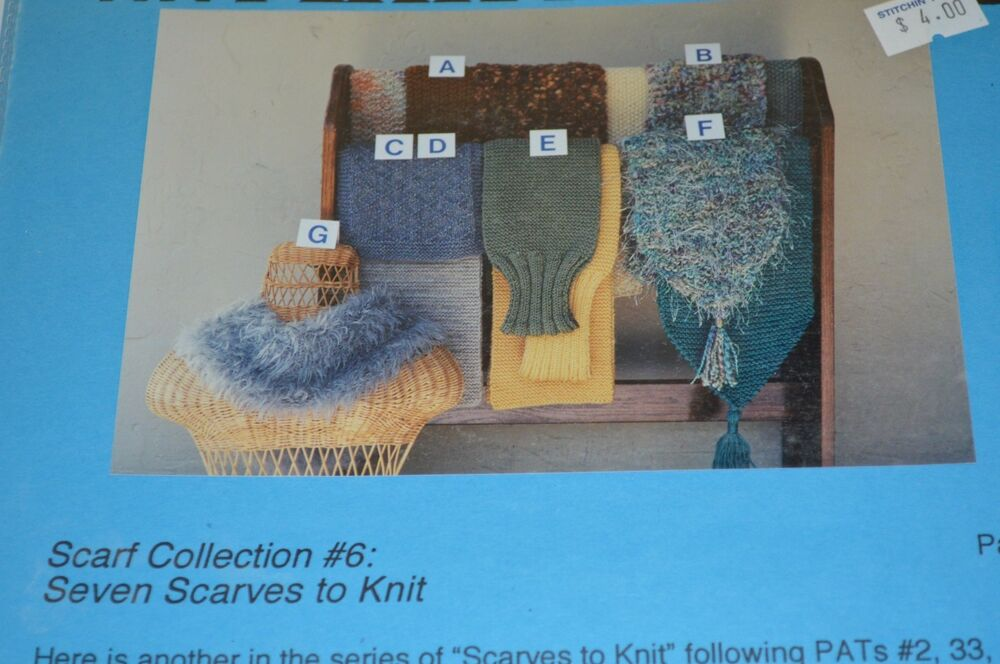 Ann Norling Knitting Pattern Scarf Collection 6 Ebay
