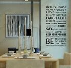 wall stickers Family House Rules Decal Removable Art Vinyl Decor Home Kids Au