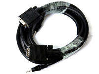 H10W 6FT SVGA/VGA HD15 Monitor Cable M/M with 3.5mm Audio Plug Laptop PC 6 ft