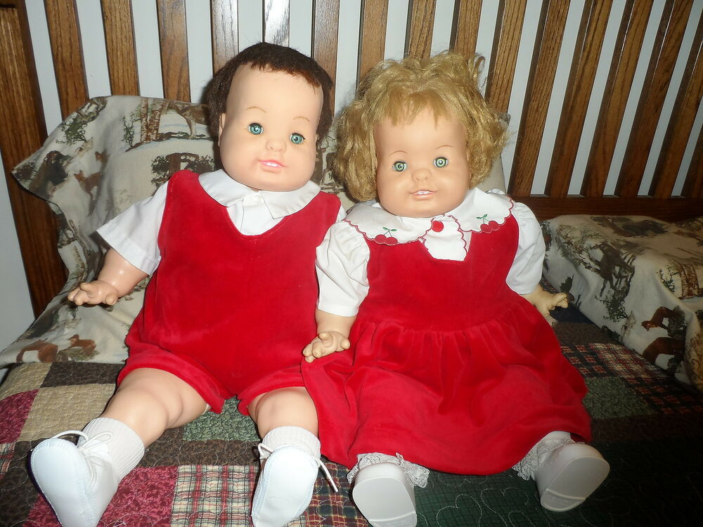 bobby dear one baby dear one wilkins twins gc in christmas attire ebay. Black Bedroom Furniture Sets. Home Design Ideas