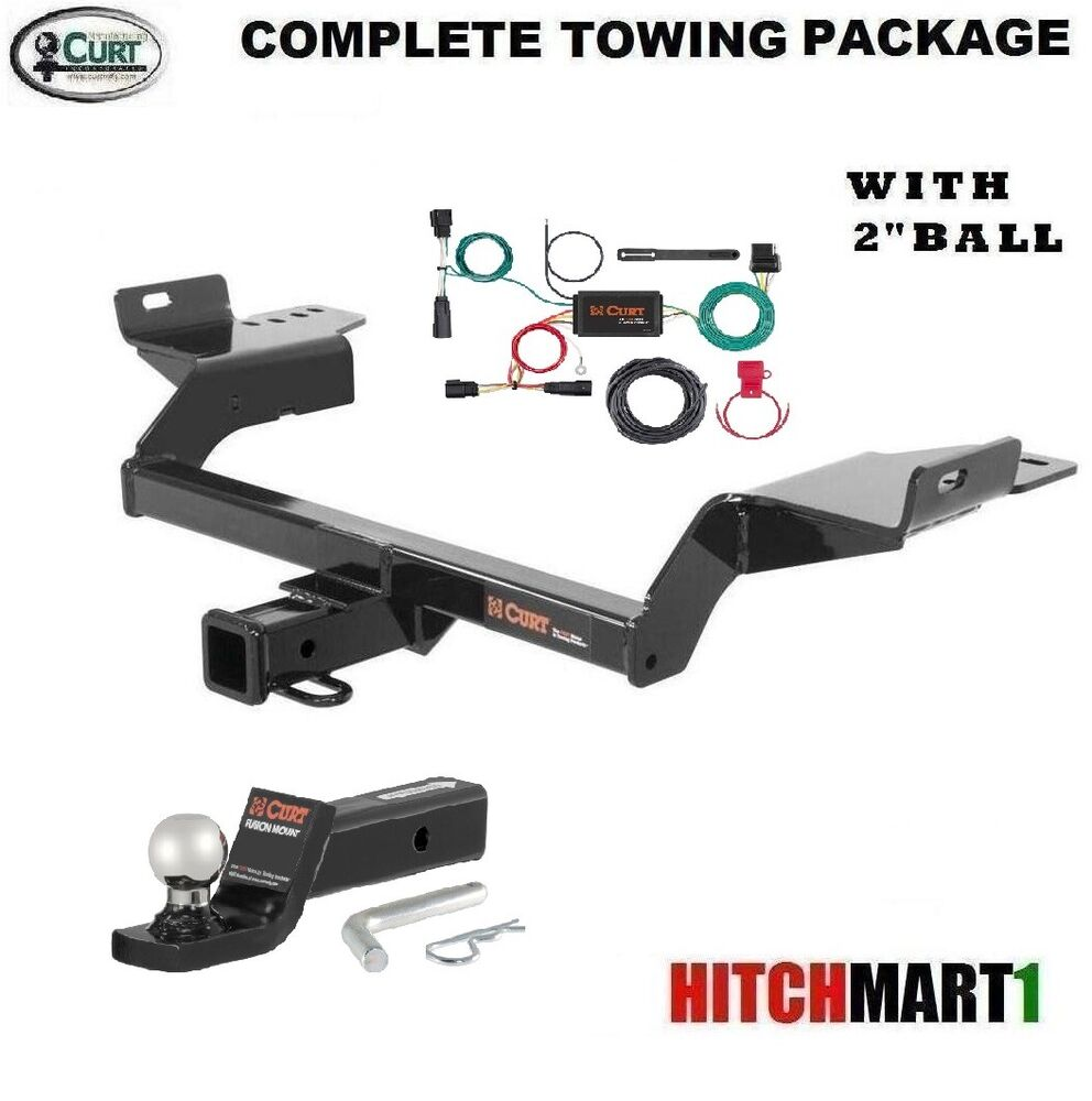 fits 2017 ford escape class 3 curt trailer hitch package with 2 ball 13186 ebay. Black Bedroom Furniture Sets. Home Design Ideas