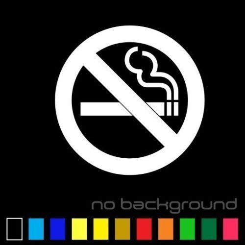 No Smoking Sticker Vinyl Decal Warning Sign Danger Circle