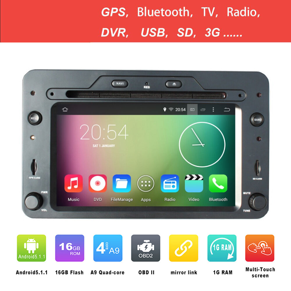 android 5 1 1 4core autoradio navigatore sat gps per alfa. Black Bedroom Furniture Sets. Home Design Ideas