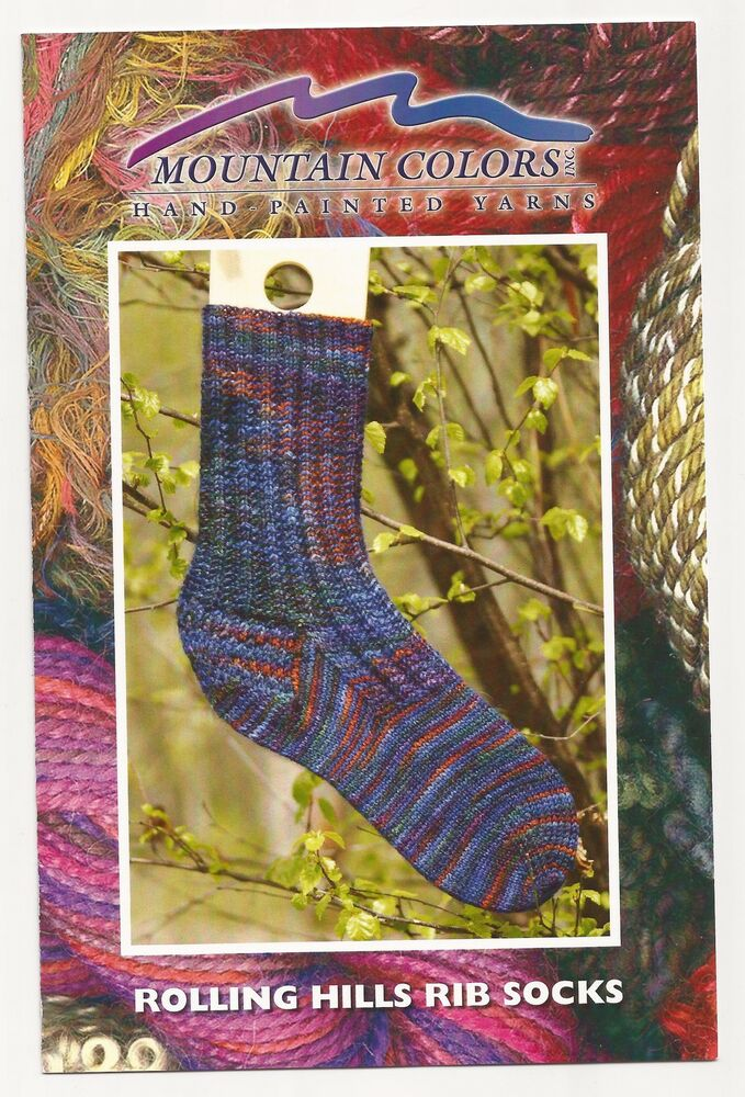 Knitting History Facts : Mountain colors rolling hills rib socks knitting pattern