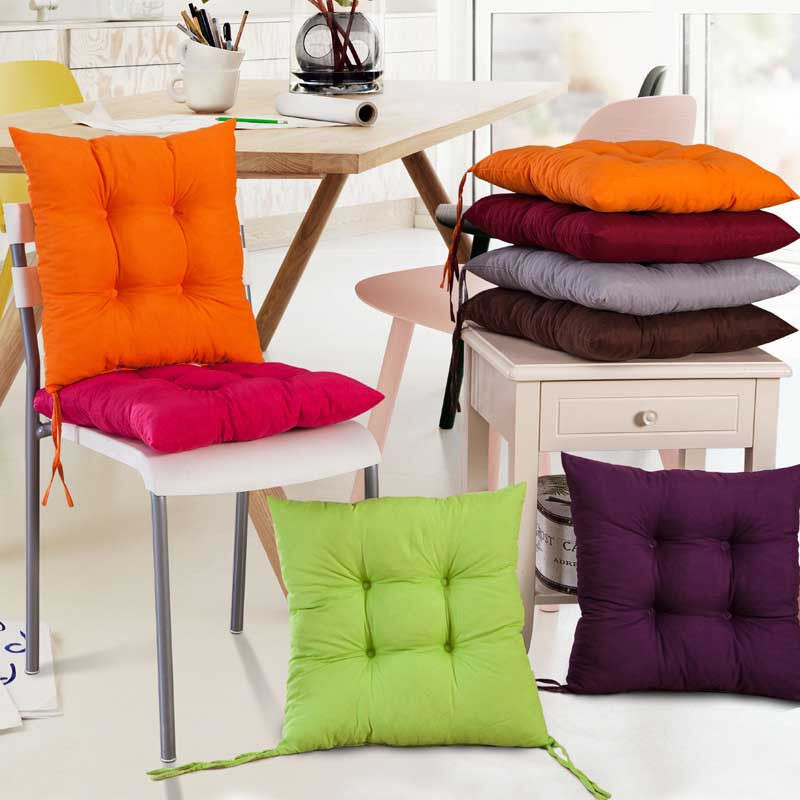How To Make Dining Room Chair Cushions: NEW COLOURFUL SEAT PAD DINING ROOM GARDEN KITCHEN CHAIR CUSHIONS WITH TIE ON